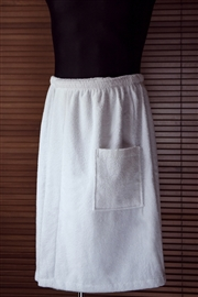 Kilt do sauny frotte 100% bawełna L/XL męski biały