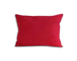 Poszewka z satyny bawełnianej 70x80 czerwona