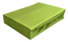 Prześcieradło z satyny bawełnianej z gumką 220x200 zielone