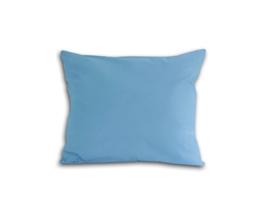 Poszewka z satyny bawełnianej 50x60 niebieska