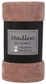Koc MADLEN Wellsoft 150x200 pudrowy róż