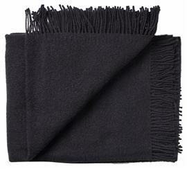 Pled wełniany ATHEN 100% wełny jagnięcej 130x200 black
