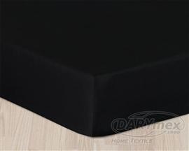 Prześcieradło satynowe z gumką 180x200 czarne