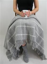 Zdjęcie Koc wełniany jagnięcy LOFT DESIGN 155x200 new grey