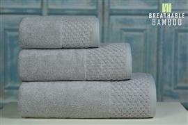 Nefretete ręcznik Bamboo 600gsm komplet 2cz. popielaty