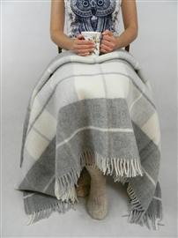 Zdjęcie Koc wełniany jagnięcy LOFT DESIGN 155x200 classic grey