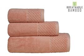 Nefretete ręcznik Bamboo 600gsm  50x90 łososiowy róż