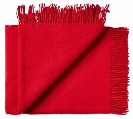 Pled wełniany ATHEN 100% wełny jagnięcej 130x200 dark red
