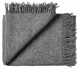 Pled wełniany ATHEN 100% wełny jagnięcej 130x200 dark grey