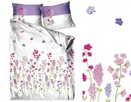 GRENO Pościel satyna bawełniana FLOWERY 160x200