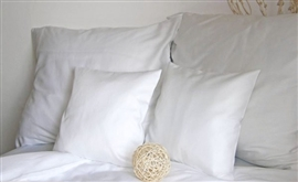 ANDROPOL Pościel satyna bawełniana 200x220 biała