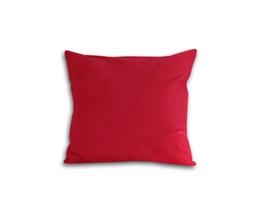 Poszewka z satyny bawełnianej 40x40 czerwona