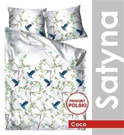 GRENO Pościel satyna bawełniana COCO 200x220