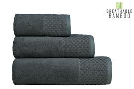 Nefretete ręcznik Bamboo 600gsm  50x90 stalowy