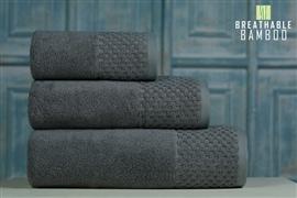 Nefretete ręcznik Bamboo 600gsm komplet 2cz. stalowy