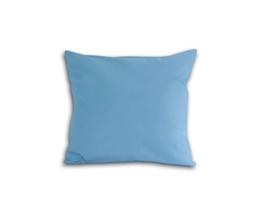 Poszewka z satyny bawełnianej 40x40 niebieska