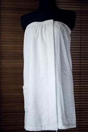 Pareo kilt do sauny frotte 100% bawełna L/XL damski biały