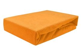 Zdjęcie Prześcieradło frotte z gumką 140x200 GRUBE pomarańczowe