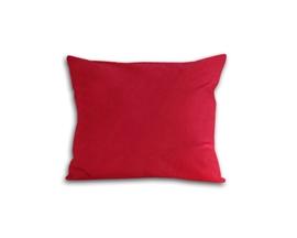 Poszewka z satyny bawełnianej 50x60 czerwona