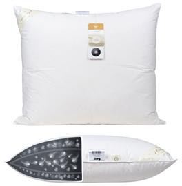 Poduszka puchowa AMZ BASIC+ 0,8 kg 50x70 3-komorowa biała