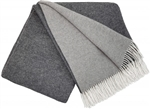 Koc wełniany CASHMERE MERINO 140x200 double face grey-dark