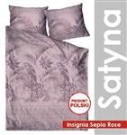 GRENO Pościel satyna bawełniana Insignia Sepia Rose 200x220