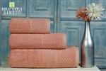 Nefretete ręcznik Bamboo 600gsm komplet 3cz. łososiowy róż