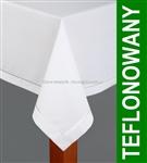 Obrus plamoodporny teflonowany IRYS SARA 160x350 biały